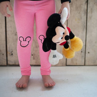 Hand Painted Childrens Leggings with Mickey or Minnie Design FREE SHIPPING