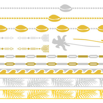 Life's a Beach Temporary Jewelry Tattoos II (includes 4 sheets with 4 styles)