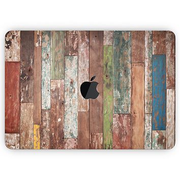 """Vintage Wood Planks - Skin Decal Wrap Kit Compatible with the Apple MacBook Pro, Pro with Touch Bar or Air (11"""", 12"""", 13"""", 15"""" & 16"""" - All Versions Available)"""