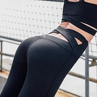 Lululemon ladies outdoor running breathable yoga fitness sports tight cross pants