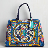 Boho Travel Far and Wise Weekend Bag in Ocean by ModCloth
