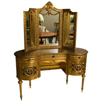 French Louis XVI Style Gilded Vanity