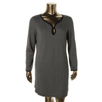 Studio M Womens Dominique Knit Pattern Casual Dress
