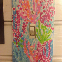 Lilly Pulitzer Inspired Print Switch-plate