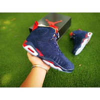 Air Jordan 6 Women Shoes Basketball Shoes Blue