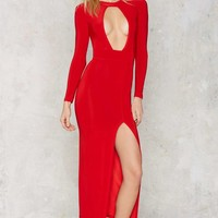 Easier Red Than Done Cutout Maxi Dress
