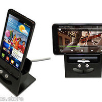 Alpinestand Aluminum Sync Charge, Docking Station for Samsung Galaxy S2, (Black)