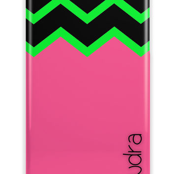 GIRLS PRETTY CHEVRON - CUSTOM MONOGRAM IPHONE CASE FOR GIRLS