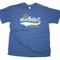 Mens Mostly Wet & Windy Pembrokeshire T-Shirt