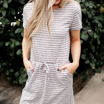 Up To Something Striped Dress