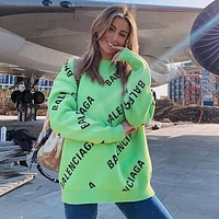 Balenciaga Fashion Letter Pullover Sweater Top Coat Cardigan jacket