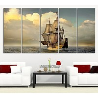 Large Wall Art Old Wood Ship Canvas Print Battleship Canvas Historic Wooden Sailing Warship