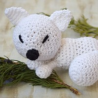 Amigurumi Crochet toy Fox Baby toys Stuffed Animal Plushie Kids toy Teether organic New Baby Gift Baby Shower Gift toddler toy Baby rattle Plush Eco cotton toy nursery crib toy kids room decor