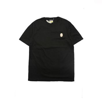 Gold thread embroidery loose round neck men and women lovers short sleeves [11086495367]