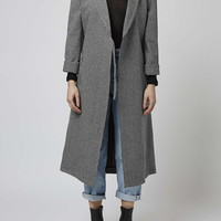 Houndstooth Duster Coat by Boutique