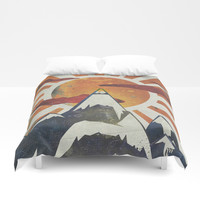 Mount Spitfire Duvet Cover by happymelvin