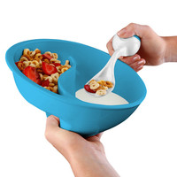 Obol, the Never-Soggy Cereal Bowl at Brookstone—Buy Now!