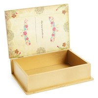 Natural Life 'Home Is Where Your Mom Is' Wooden Book Box - Yellow