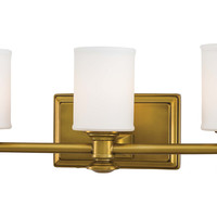 Kathy 3-Light Vanity, Gold, Bath Bars