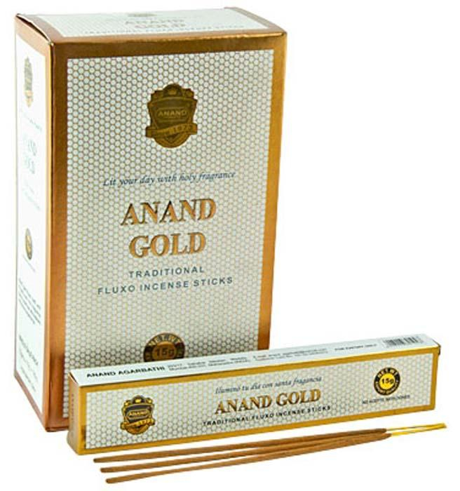 Image of Anand Gold Incense - 15 Sticks Pack (12 Packs Per Box)