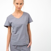 The Dolman Top in Graphite - Medical Scrubs by Jaanuu
