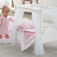 Doll Canopy Bed & Bedding | Pottery Barn Kids