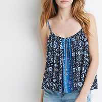 Striped Floral Print Cami