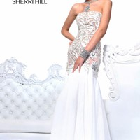 Beaded Applique Gown by Sherri Hill