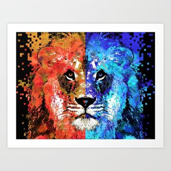 Lion Art - Majesty - Sharon Cummings Art Print by Sharon Cummings