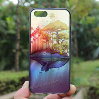 Whale Island Tree,iphone 4 case,iPhone4s case, iphone 5 case,iphone 5c case,Gift,Personalized,water proof
