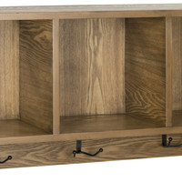 Alice Wall Shelf With Storage Compartments Oak