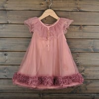 Girls Pleated Chiffon One-Piece Dress With Paillette Collar Children Colthes For Kids Baby, Pink/Beige = 1958029444