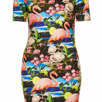 FLAMINGO CUT OUT BODYCON DRESS