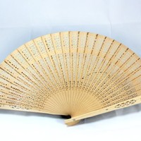 Outop Sandalwood Fan (Set of 48 pcs) - Baby Shower Gifts & Wedding Favors