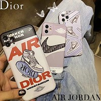 Dior Nike Jordan AJ iPhone11promax mobile phone case all-inclusive soft shell protective cover 7/8plus men and women couples