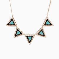 Cut Out Color Mix Triangle Choker