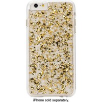 Case-Mate - Karat Hard Shell Case for Apple® iPhone® 6 Plus and 6s Plus - Clear/Gold