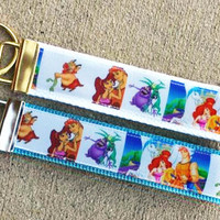 Disney Inspired Hercules Keychain, Key Fob, Meg, Pain & Panic, Pegasus, Phil, Accessories, Key Holder