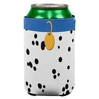 Dog Dalmatian Costume Blue Collar All Over Can Cooler
