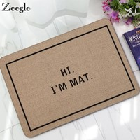 Autumn Fall welcome door mat doormat Zeegle Rubber  Home Entrance Mats Hallway Rugs Anti-slip Floor Mats Bathroom Mat Bedroom Carpet Bedside Rugs Kitchen Mats AT_76_7