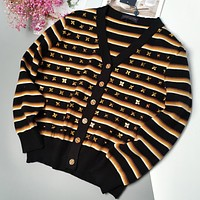 LV New fashion monogram print women long sleeve coat cardigan