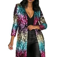 Colorful Bling Bling Long Coat