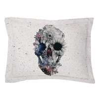 Floral Skull 2 Pillow Shams