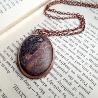 Leopard Skin Agate Necklace