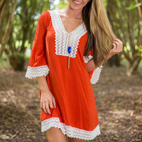 Pretty Possibilities Dress, Orange