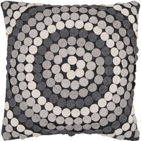 Halo Throw Pillow Black, Gray