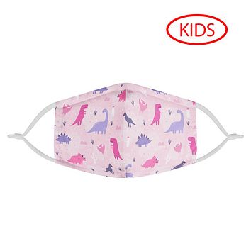 PINK DINOS - KIDS MASK WITH (4) PM 2.5 CARBON FILTERS