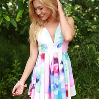 Lotus Love Watercolor Dress