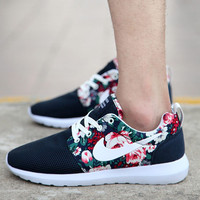 Blue Rose Camo Nike Roshe Running Shoes
