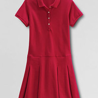 School Uniform Girls' Short Sleeve Mesh Polo Dress from Lands' End